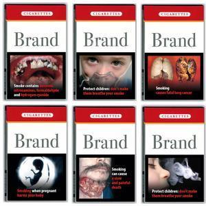 Fotografías de cajas de cigarrillos