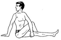 postura de la torsión